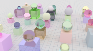An example render illustrating depth of field.
